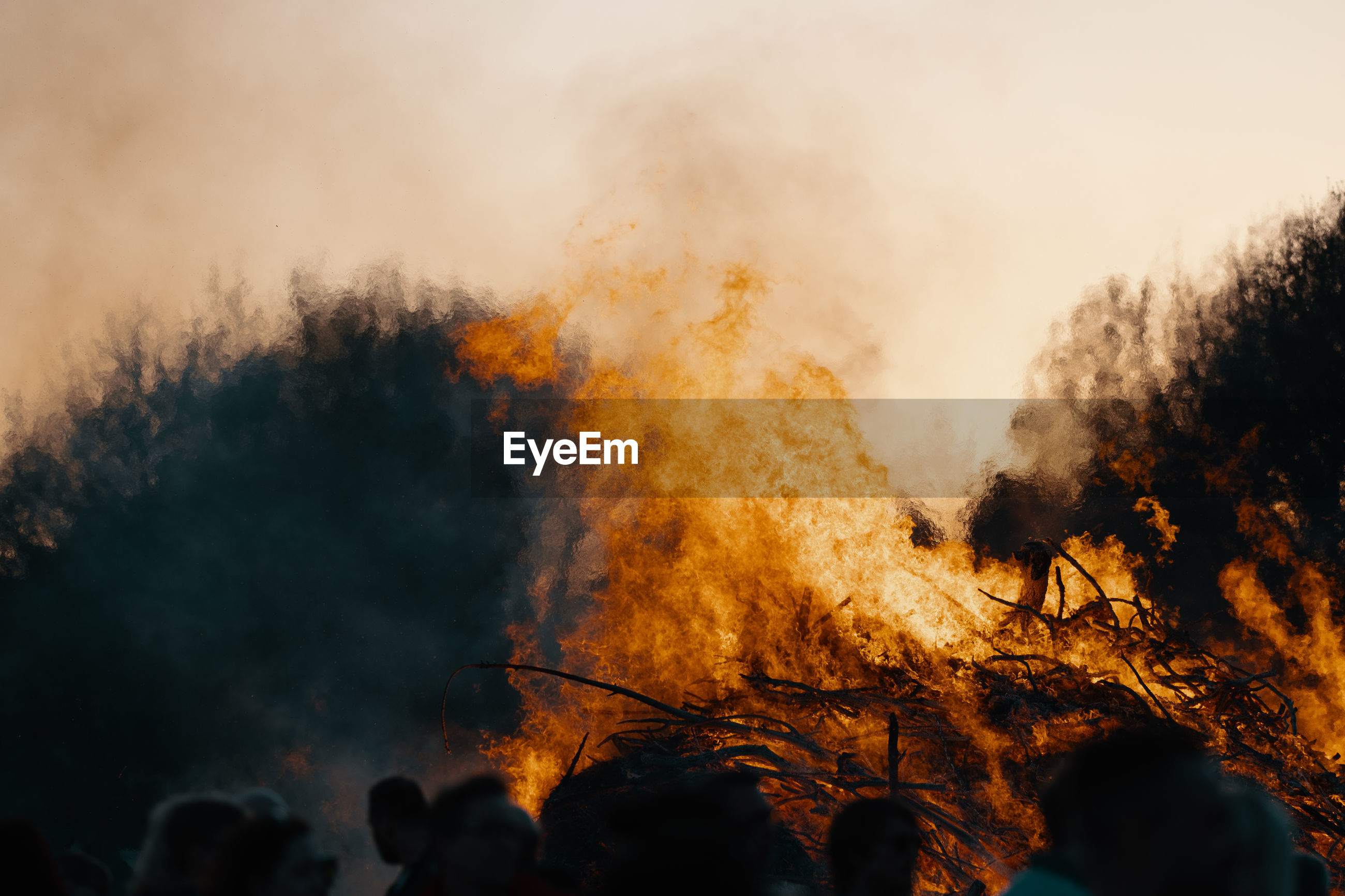 Fire against sky