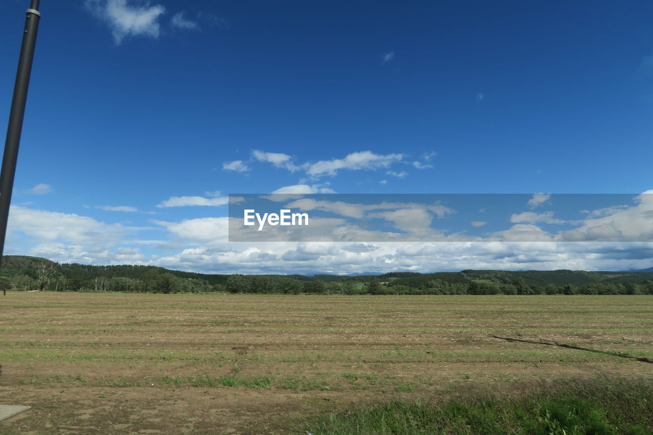 sky, cloud - sky, environment, landscape, land, tranquil scene, tranquility, beauty in nature, field, nature, scenics - nature, no people, day, plant, grass, non-urban scene, blue, outdoors, rural scene, horizon