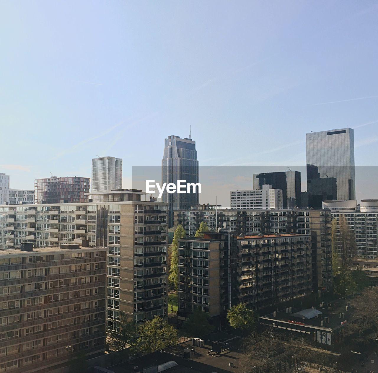 Modern Cityscape Against Clear Sky