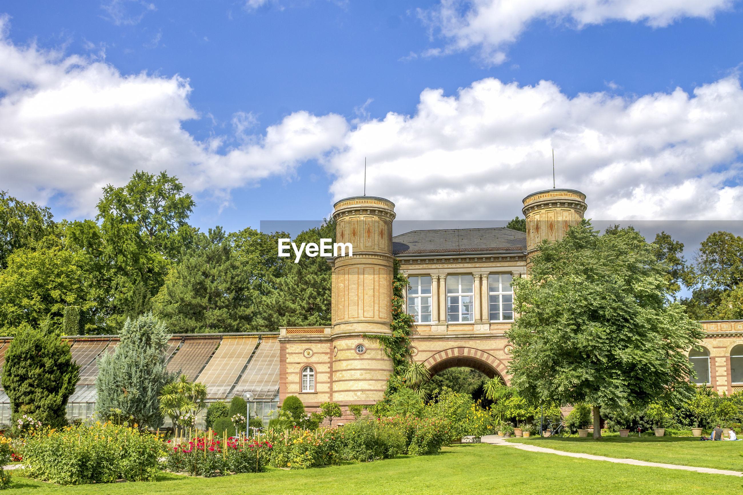 Castle against blue sky