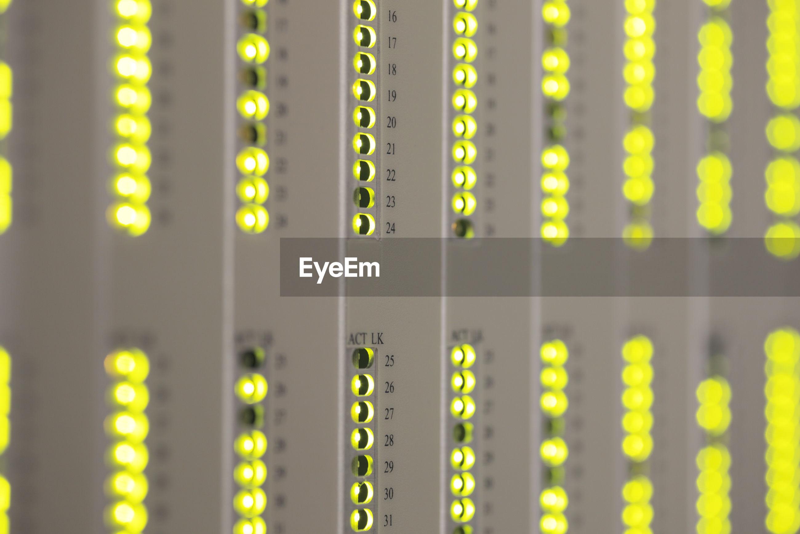 Full frame shot of network server