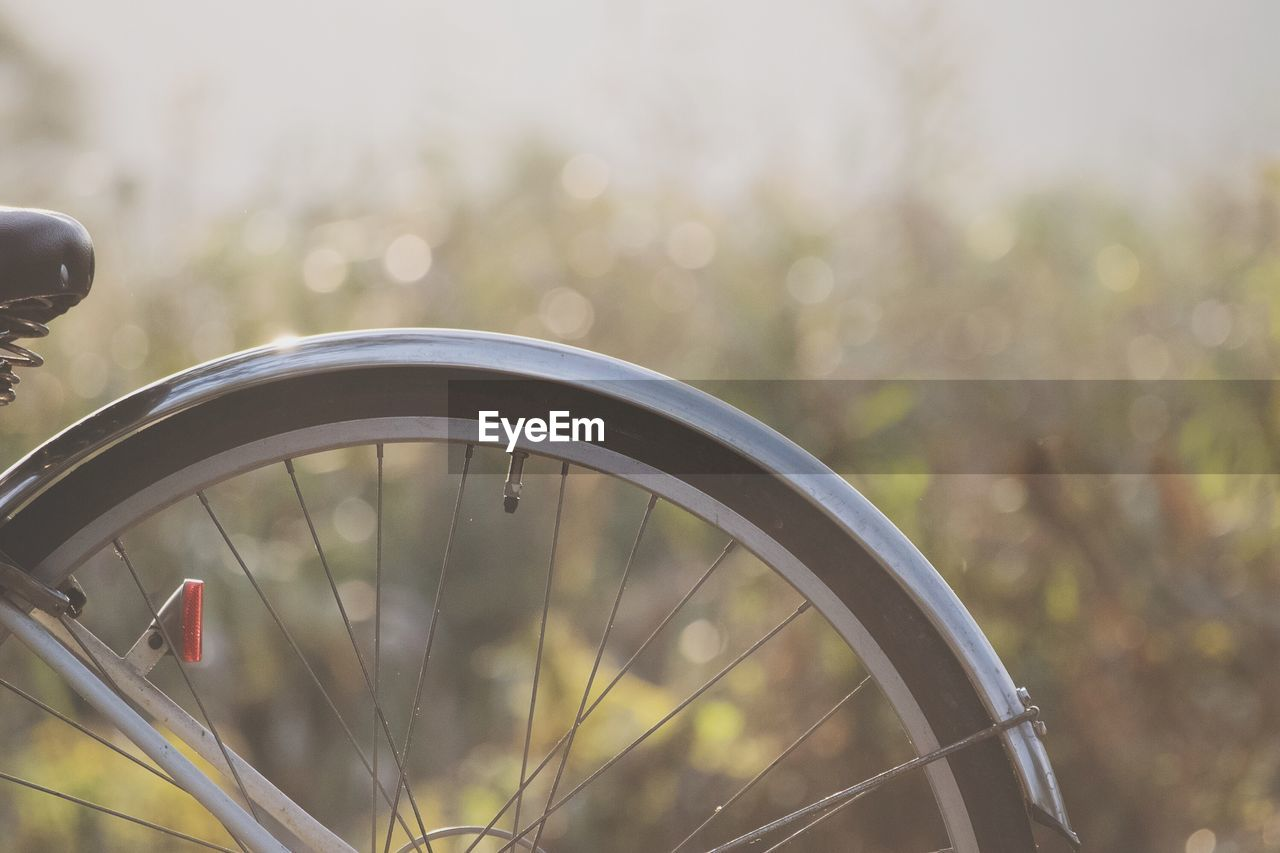 Close-Up Of Bicycle Tire