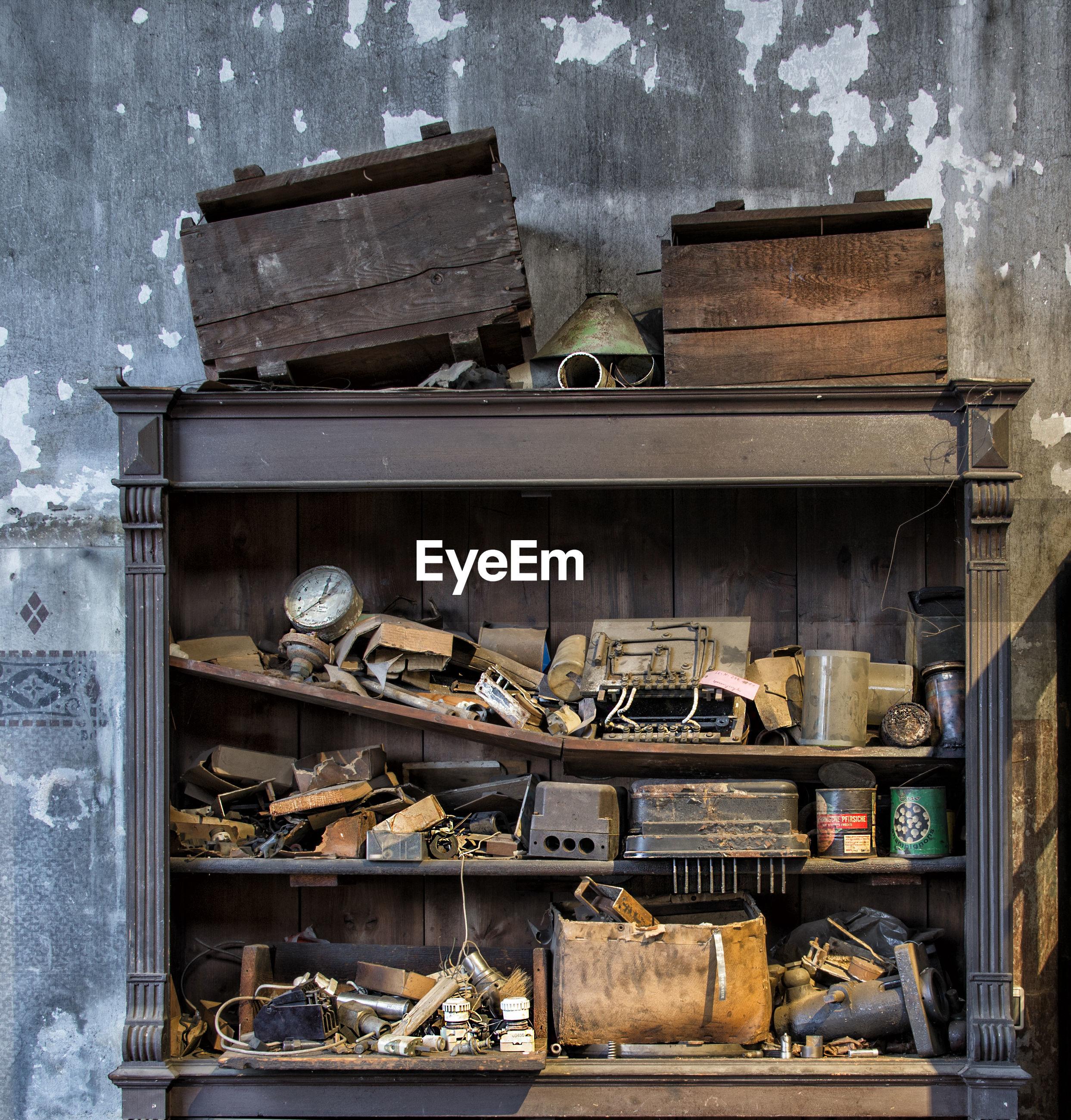 Shelf in abandoned house