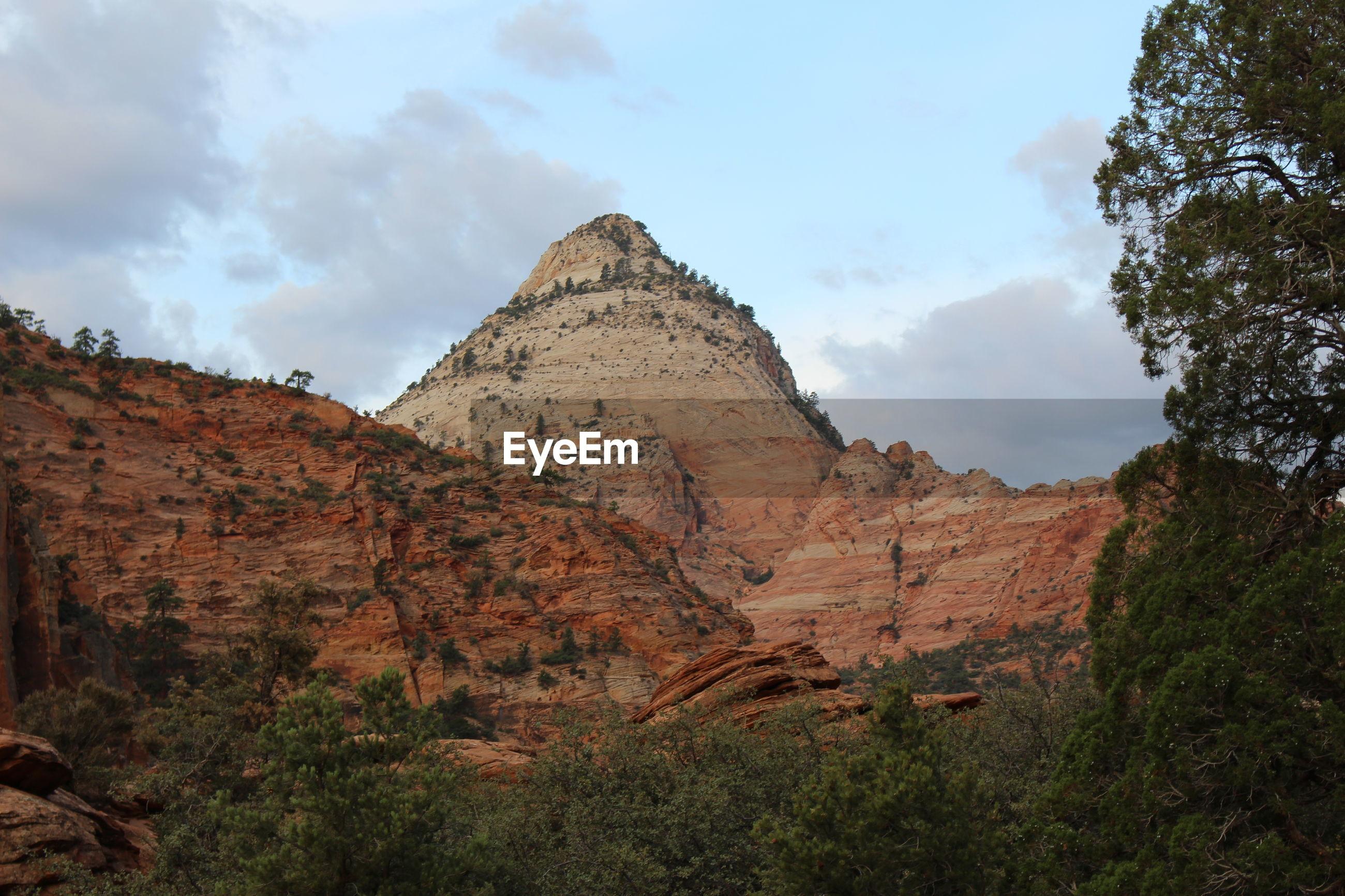 MOUNTAIN AGAINST SKY