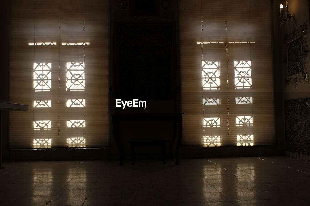 window, indoors, door, curtain, no people, shadow, sunlight, day, architecture
