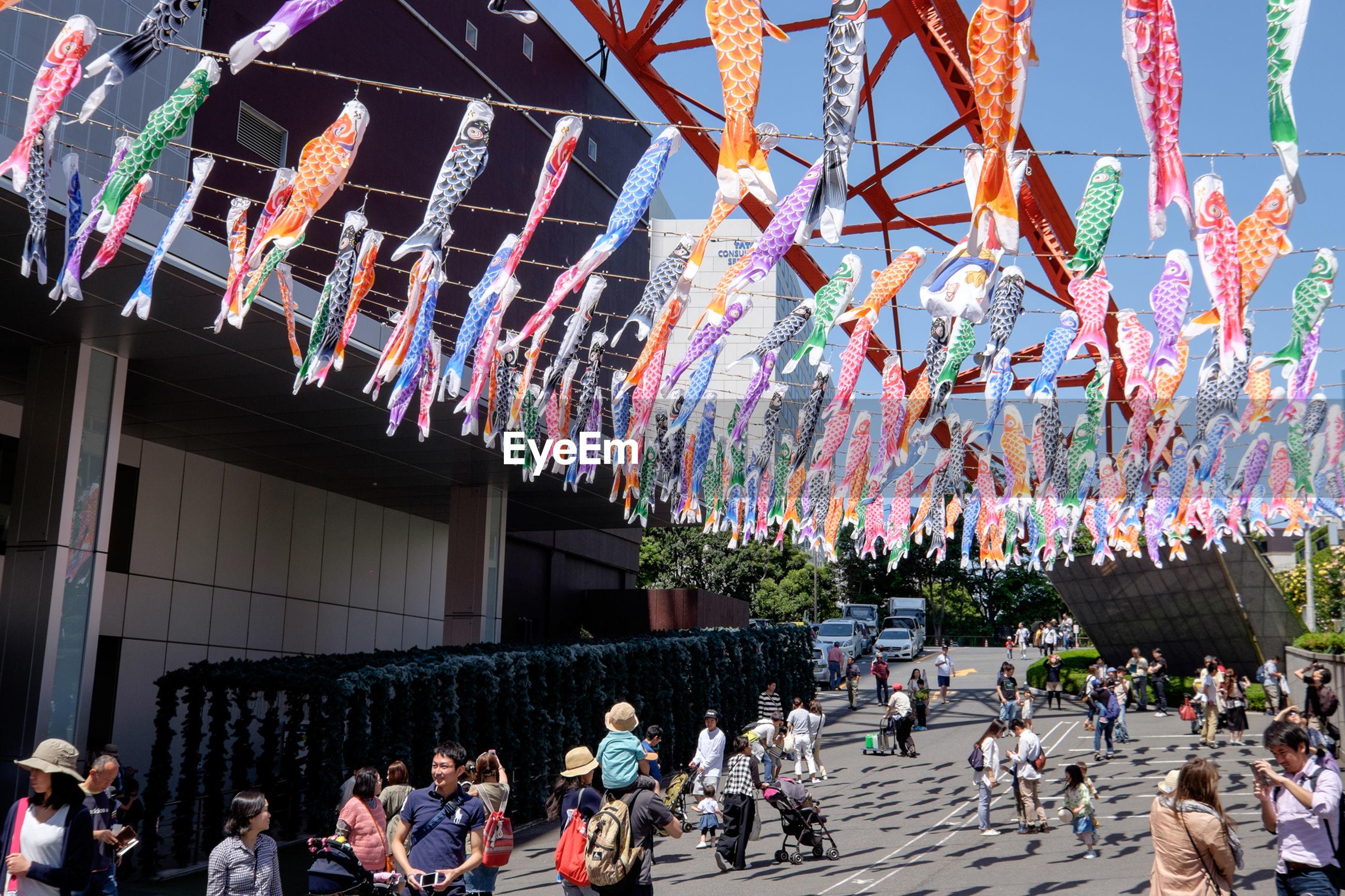 People below tokyo tower