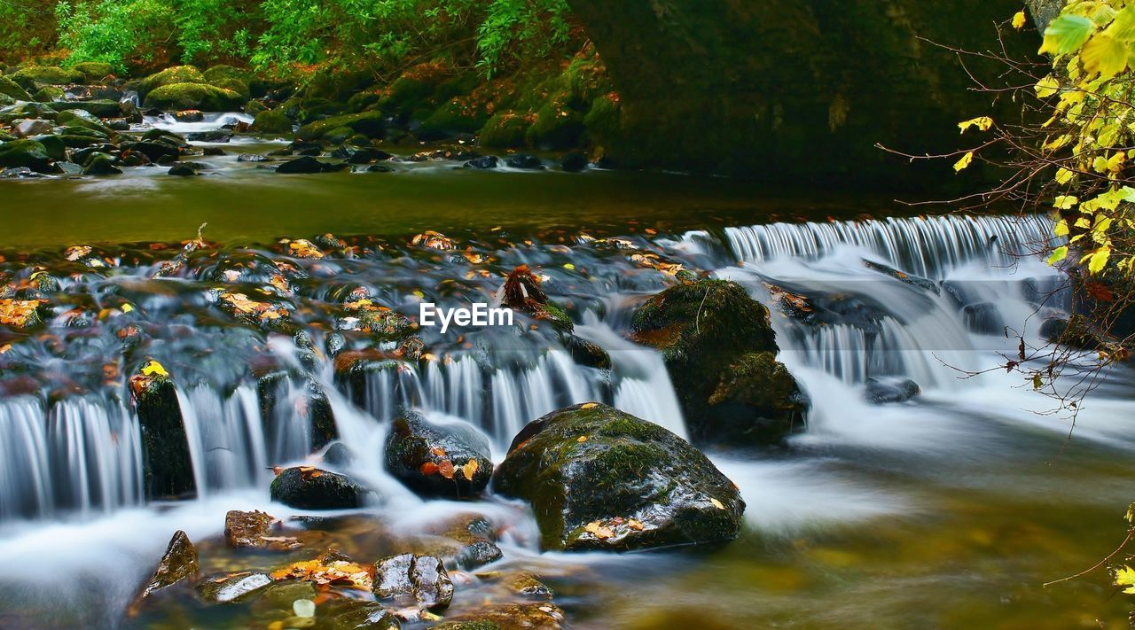 waterfall, motion, long exposure, water, flowing water, nature, tree, beauty in nature, blurred motion, river, outdoors, forest, no people, scenics, day