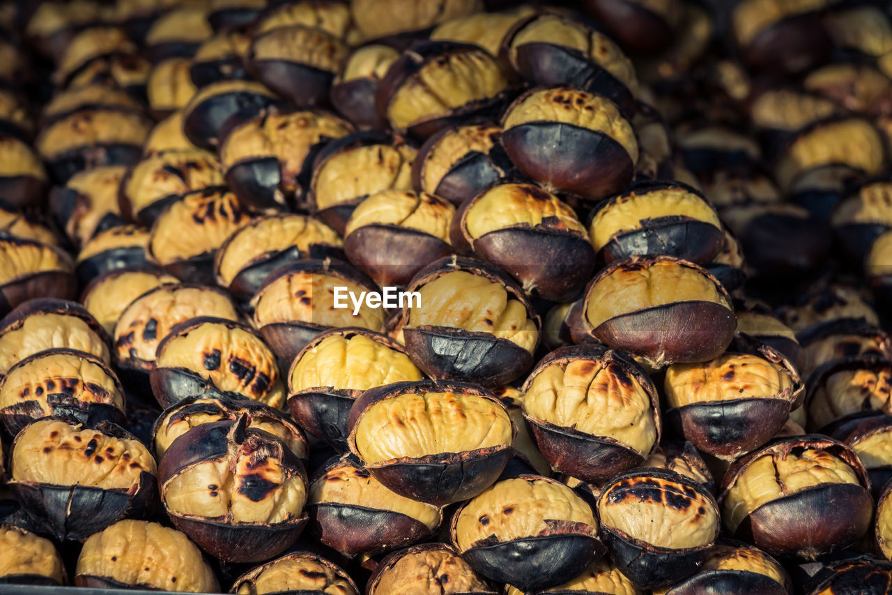 food and drink, food, large group of objects, freshness, abundance, still life, full frame, wellbeing, no people, healthy eating, backgrounds, close-up, retail, day, fruit, focus on foreground, for sale, nut, brown, selective focus, snack