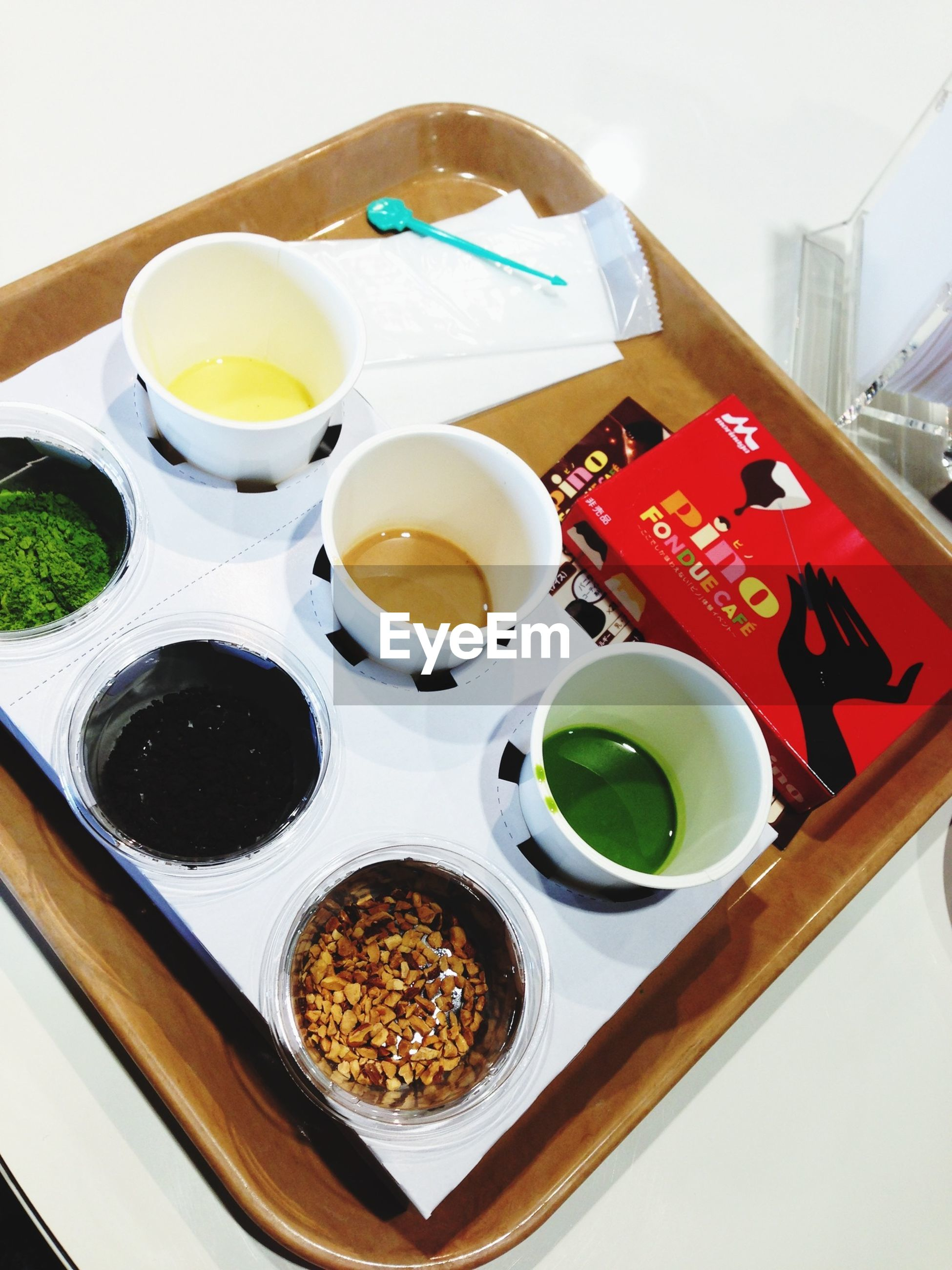 food and drink, food, freshness, indoors, plate, still life, healthy eating, table, ready-to-eat, drink, high angle view, bowl, refreshment, directly above, breakfast, sweet food, indulgence, spoon, serving size, fruit