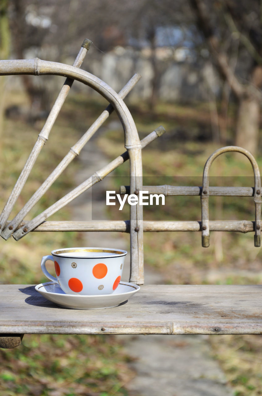focus on foreground, day, no people, close-up, metal, outdoors, representation, wood - material, nature, park, park - man made space, playground, toy, animal representation, selective focus, still life, absence, shape, handle, art and craft, outdoor play equipment