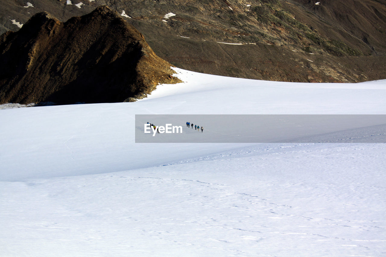 Scenic View Of Snow Covered Mountain