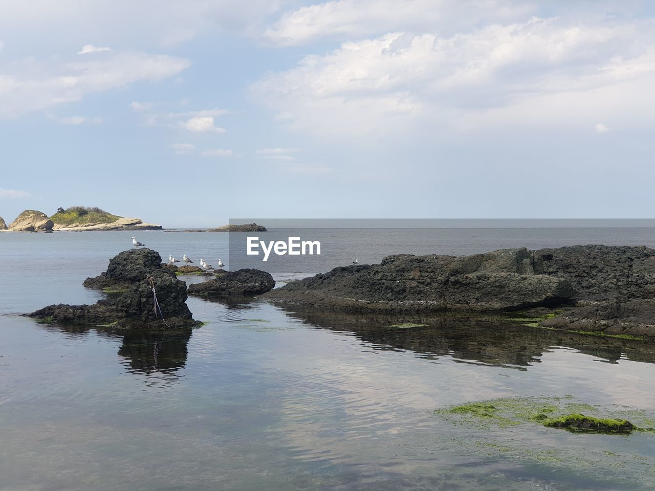 water, sky, sea, beauty in nature, scenics - nature, tranquil scene, tranquility, horizon over water, horizon, cloud - sky, nature, rock, waterfront, no people, rock - object, land, idyllic, non-urban scene, solid, outdoors