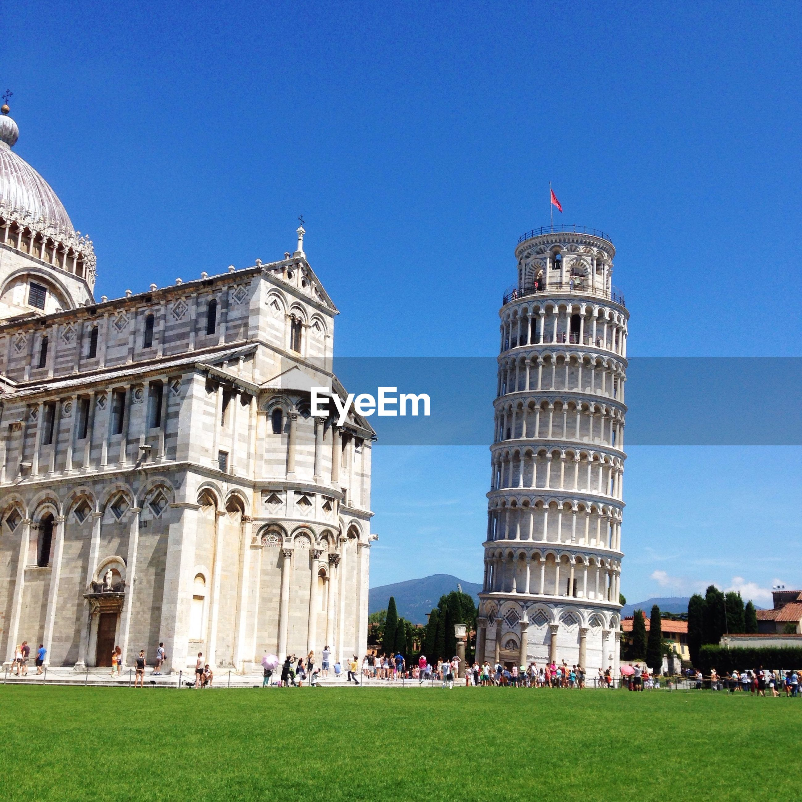 Leaning tower of pisa and the duomo