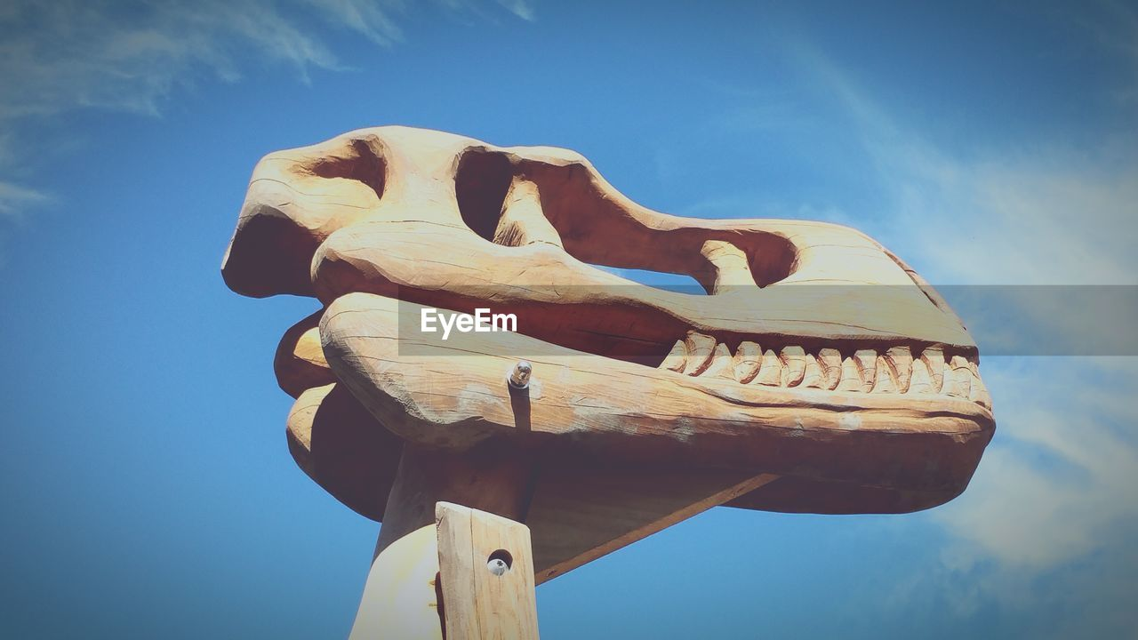Wooden Build Structure Of Dinosaur Head