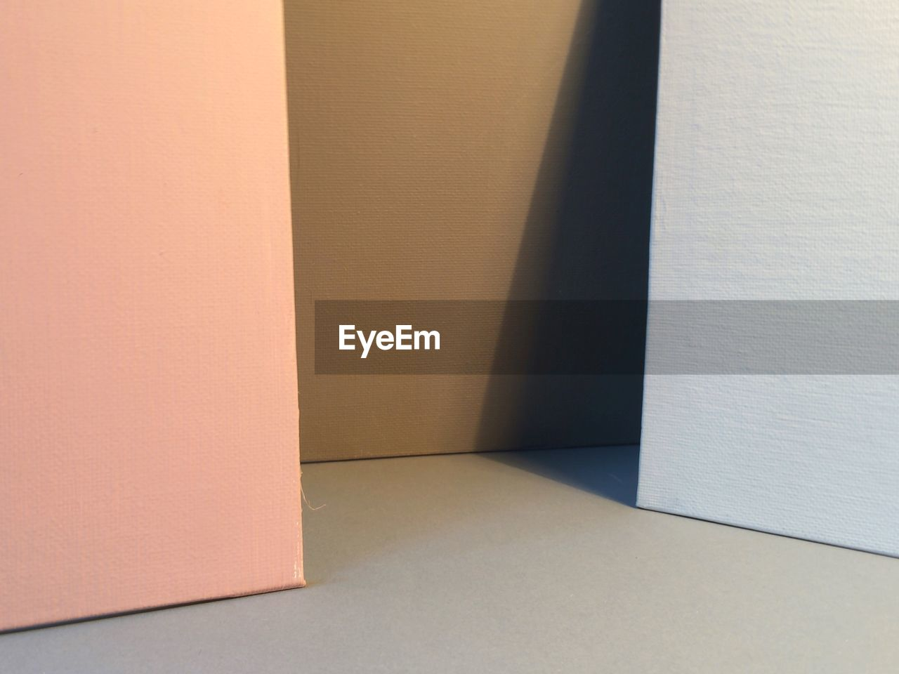Close-Up Of Blank Canvases On Table