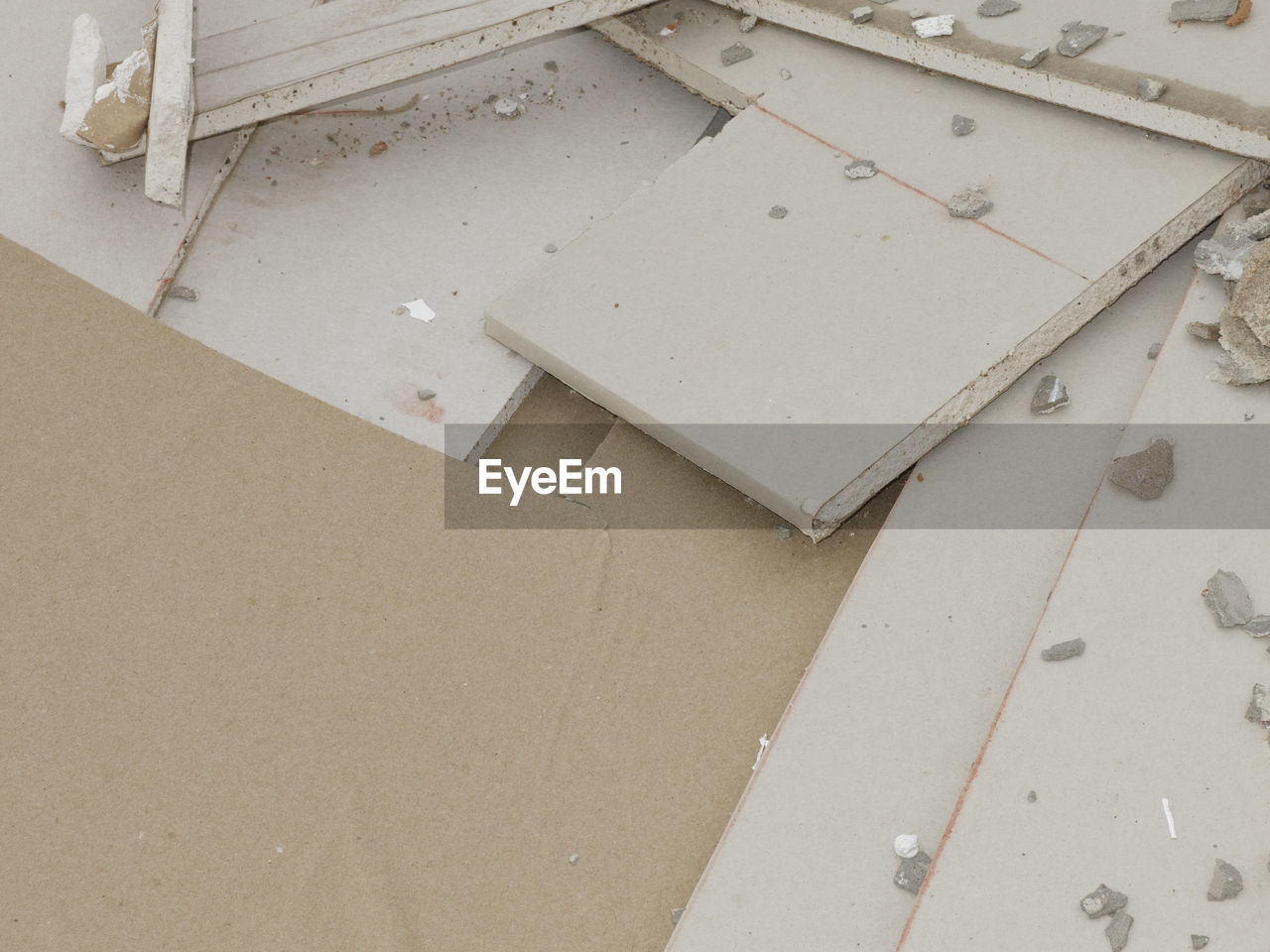 high angle view, no people, indoors, paper, home improvement, close-up, day