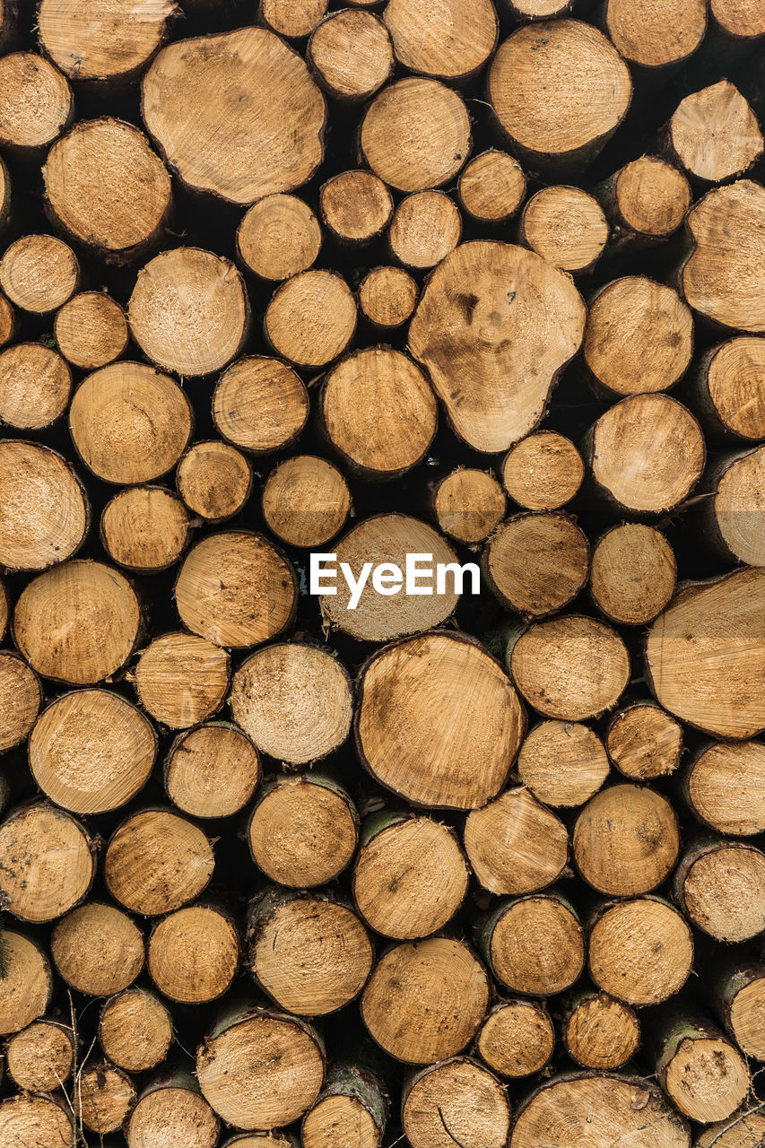 full frame, timber, log, backgrounds, large group of objects, firewood, wood, lumber industry, stack, forest, abundance, deforestation, wood - material, tree, no people, fuel and power generation, environmental issues, heap, pattern, brown, woodpile, outdoors, chopped