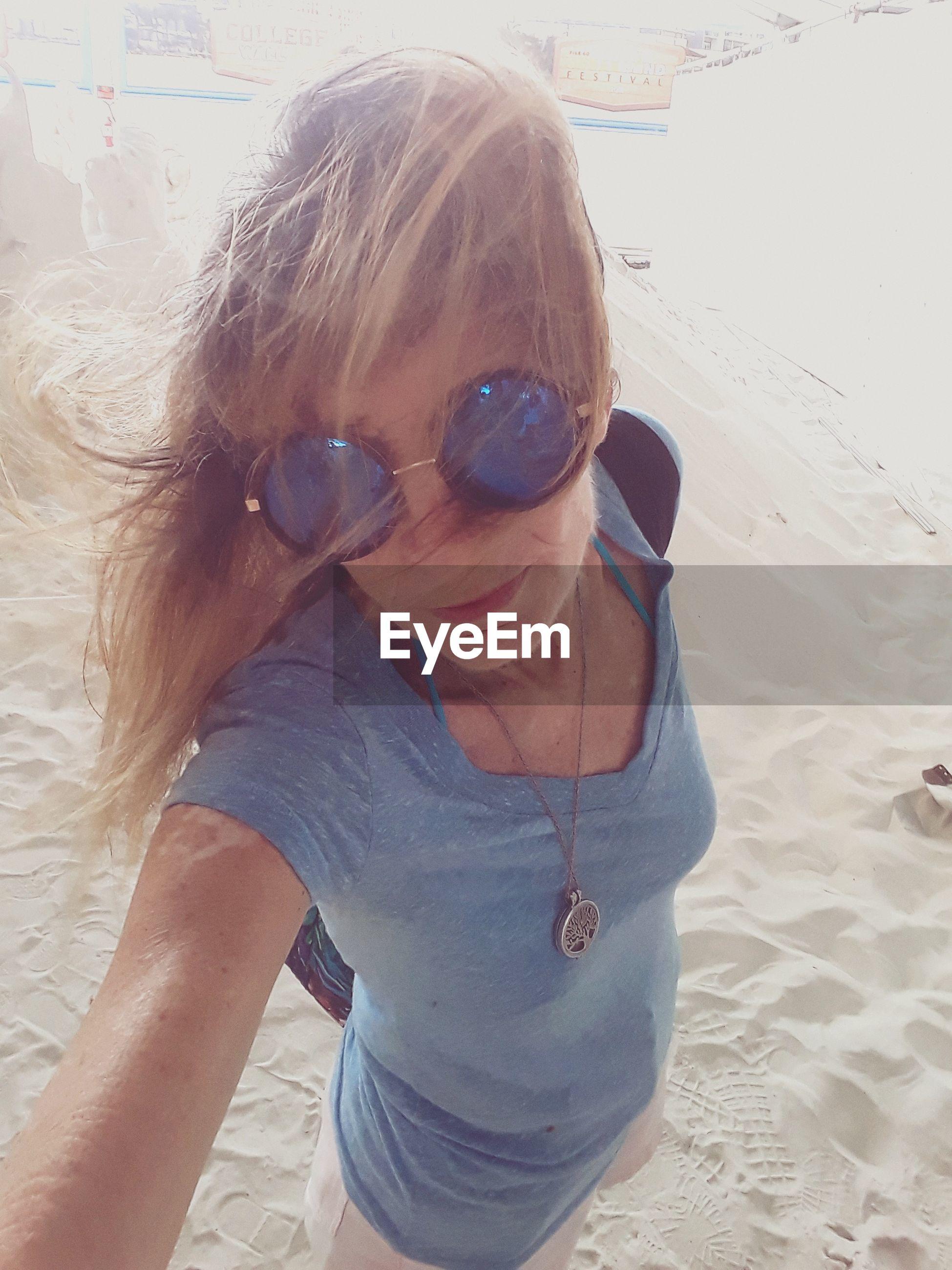 Close-up of woman at beach