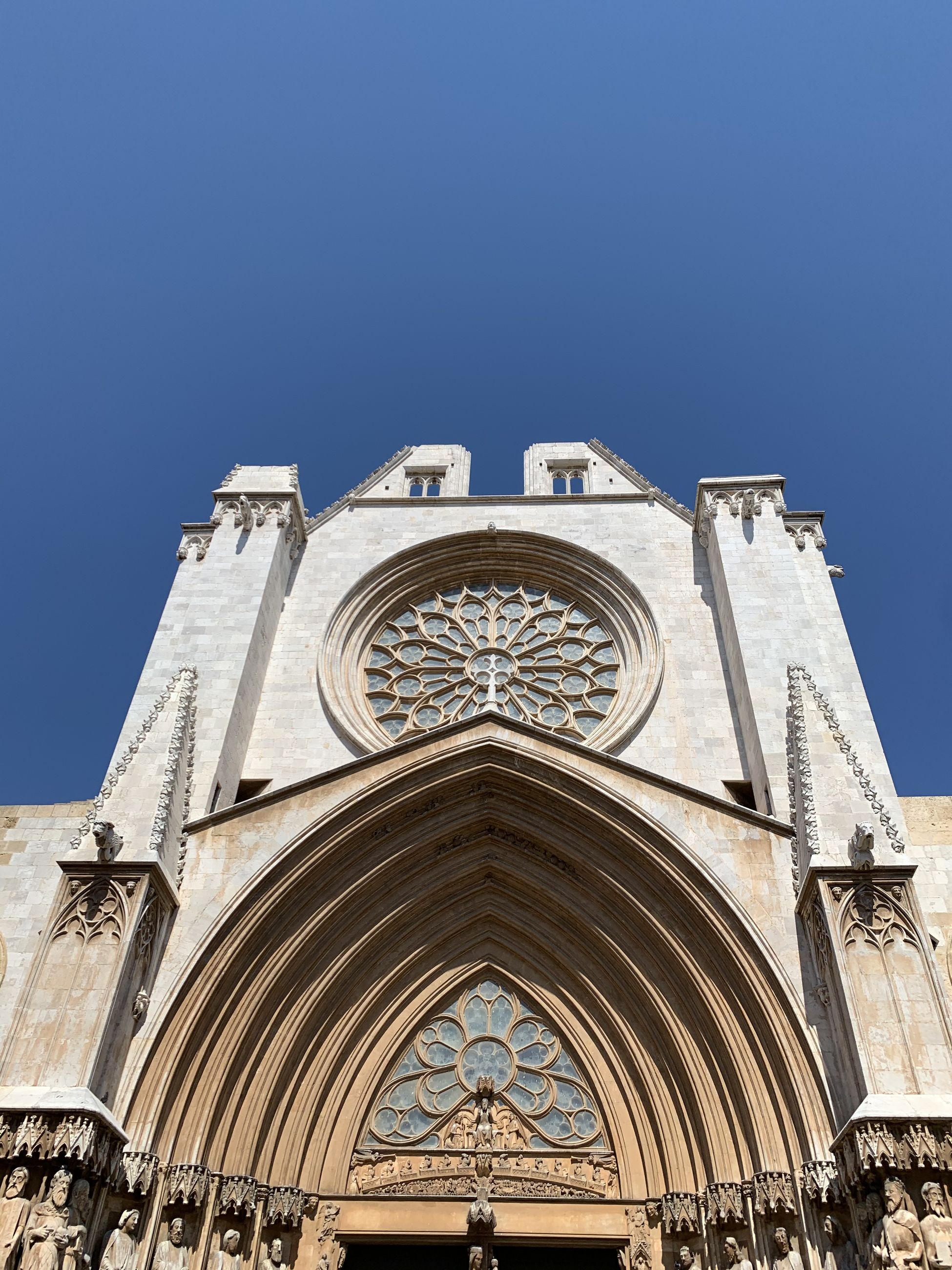 LOW ANGLE VIEW OF CATHEDRAL AGAINST CLEAR SKY