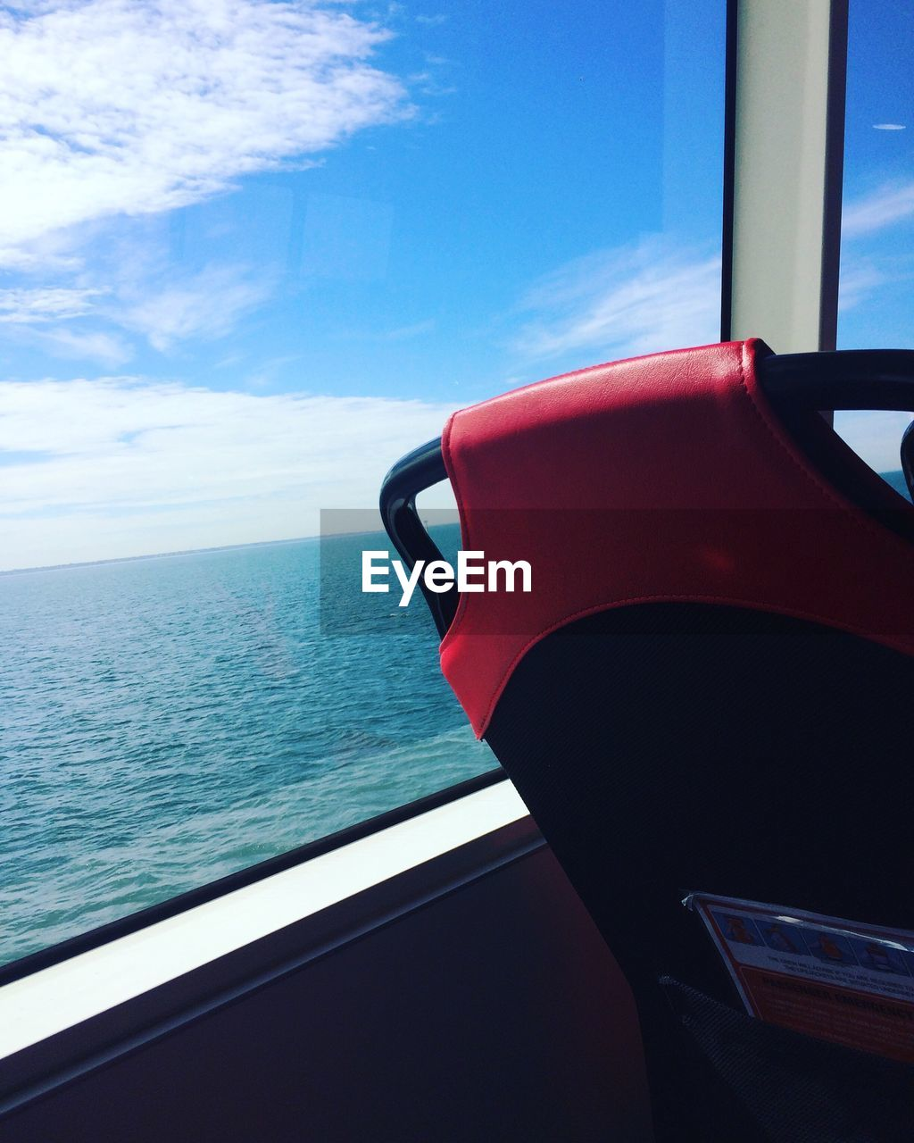 sea, sky, transportation, window, horizon over water, mode of transport, day, no people, water, cloud - sky, close-up, nautical vessel, nature, beauty in nature, outdoors