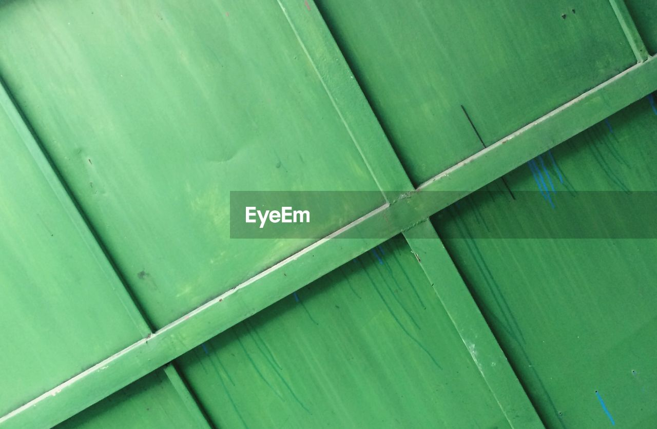 green color, full frame, backgrounds, no people, pattern, close-up, leaf, plant part, textured, day, banana leaf, outdoors, wood - material, metal, nature, natural pattern, high angle view, container, freshness, security, palm leaf, leaves, corrugated