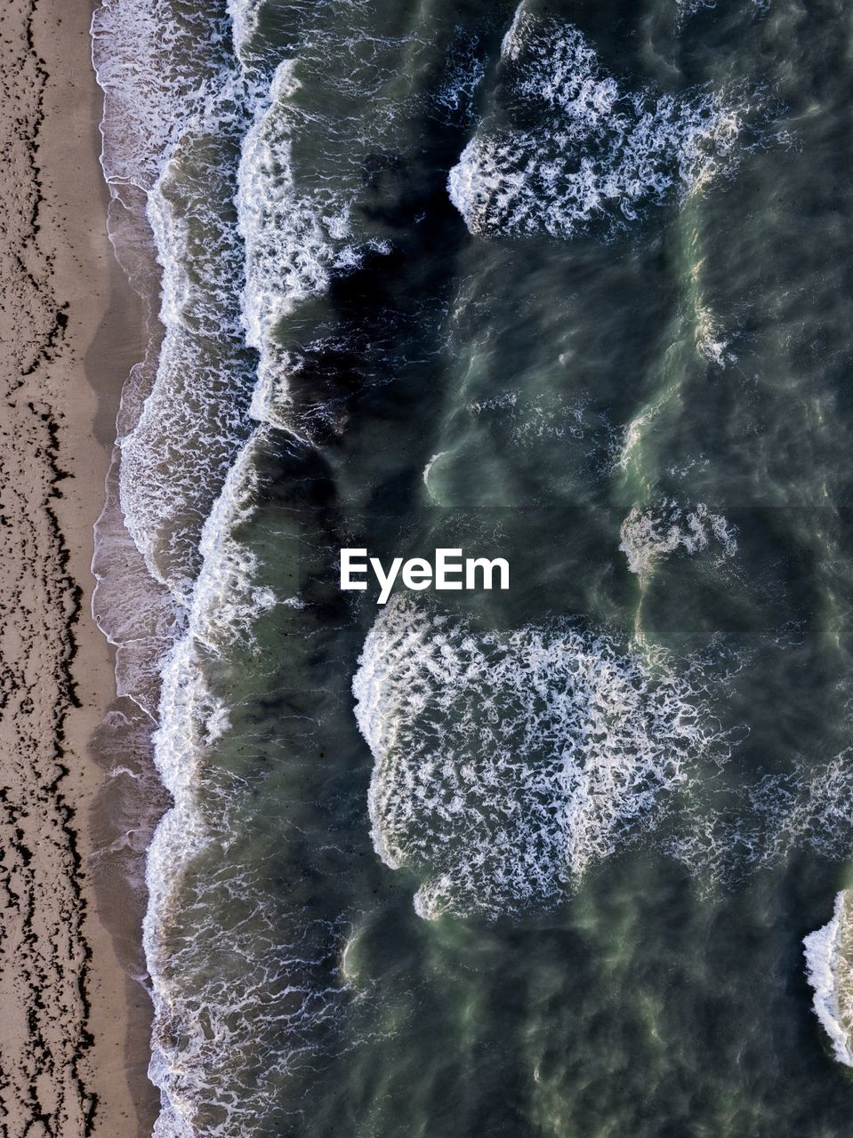 High angle view of seashore