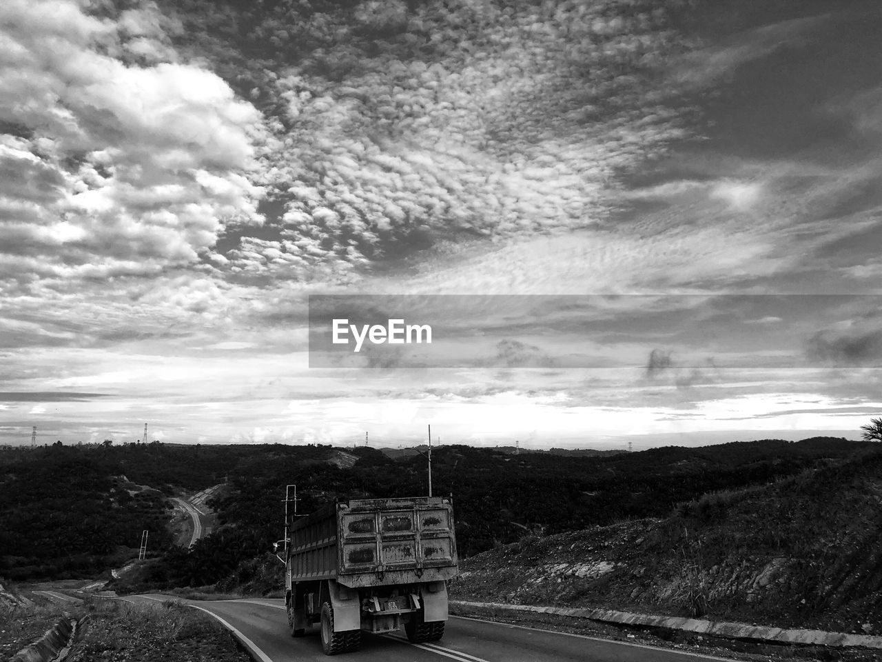 cloud - sky, sky, transportation, road, nature, outdoors, day, mountain, no people, scenics, landscape, beauty in nature, tree