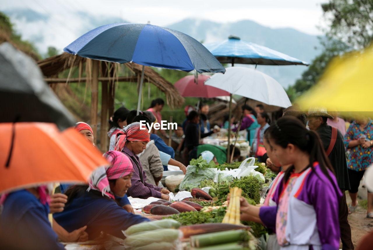 People At Farmer Market