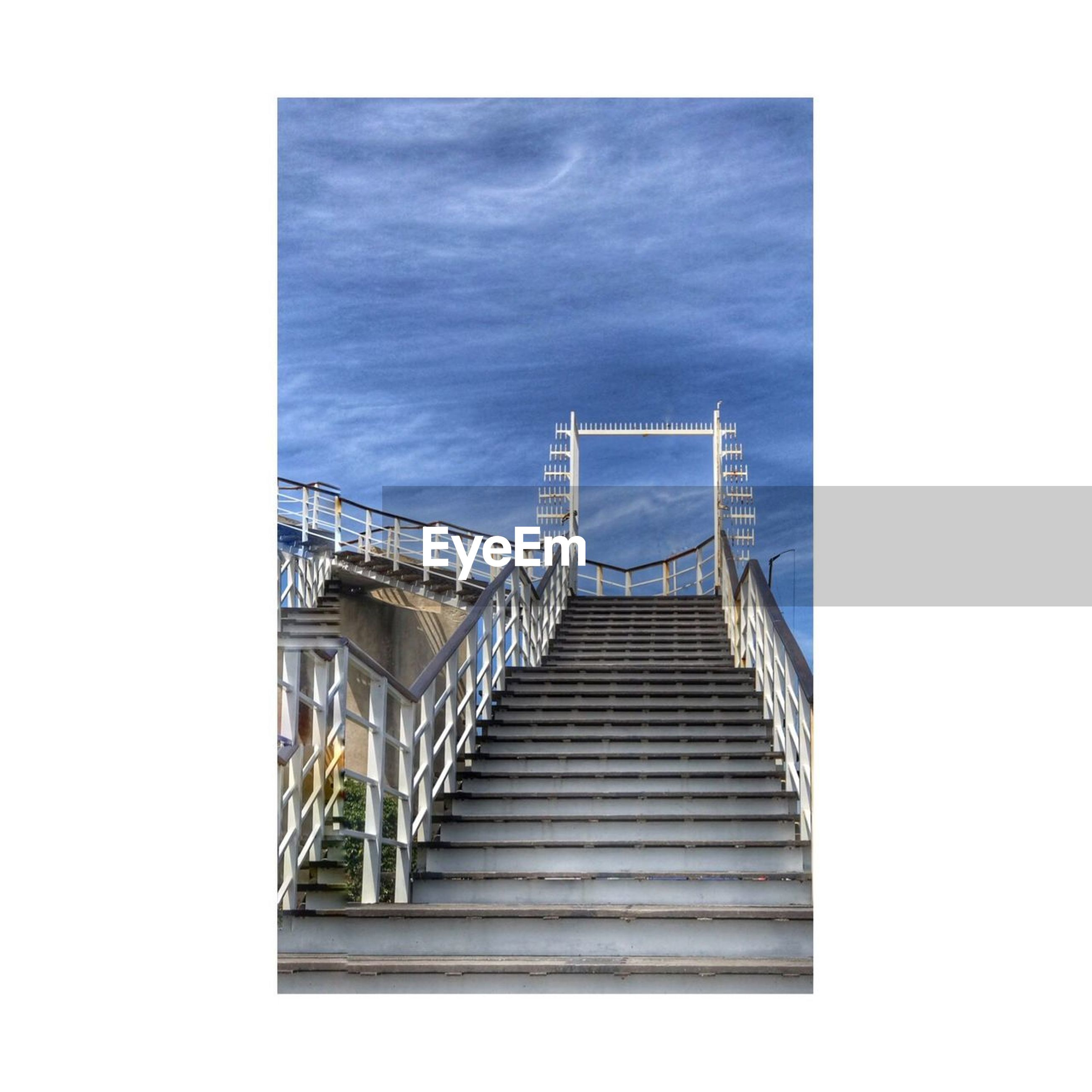 staircase, steps, steps and staircases, railing, stairs, built structure, architecture, no people, day, sky, hand rail, outdoors