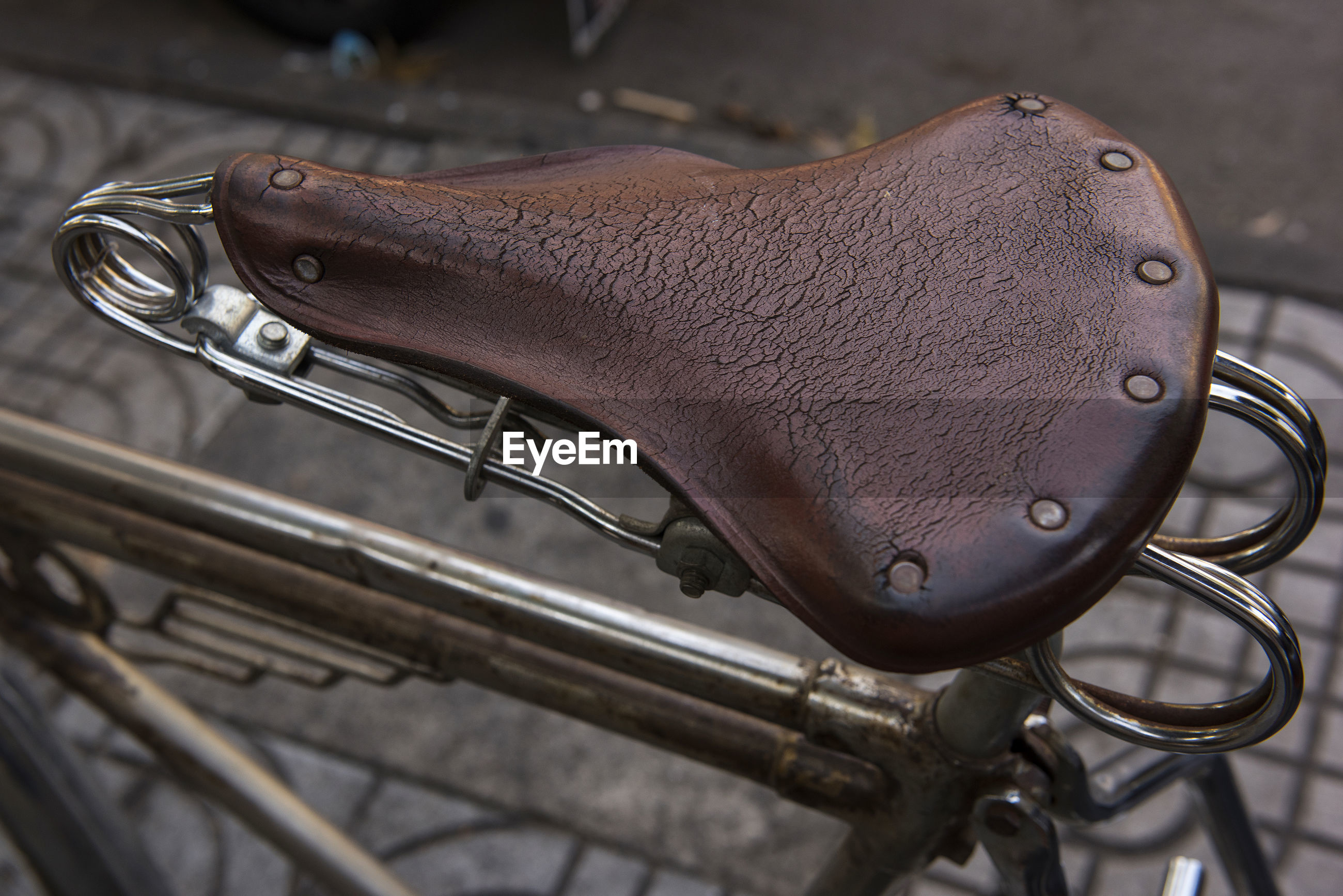 Close-up of bicycle seat