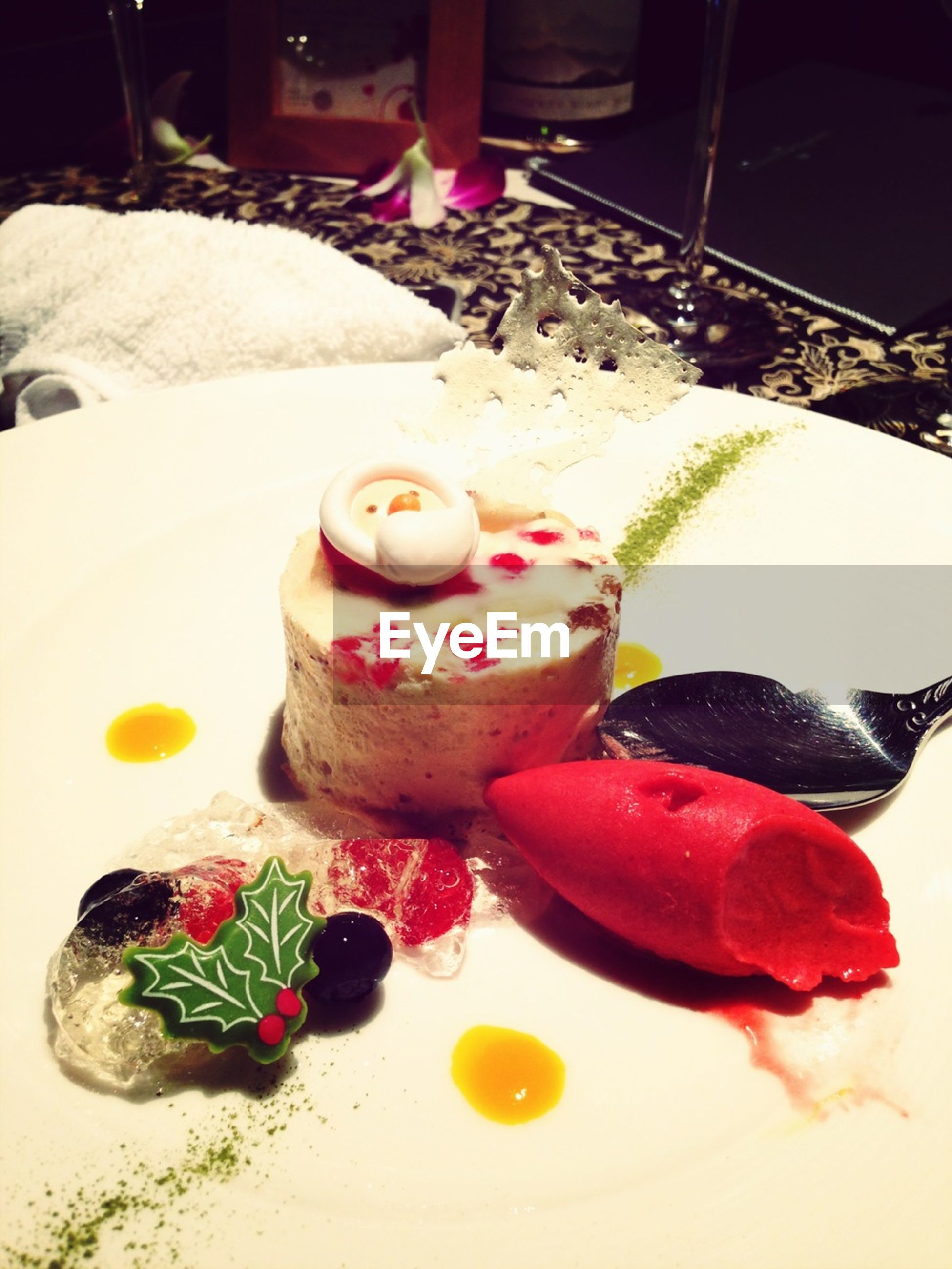 sweet food, indoors, dessert, still life, food and drink, food, table, indulgence, plate, ready-to-eat, cake, unhealthy eating, freshness, high angle view, temptation, animal representation, decoration, close-up, celebration, multi colored