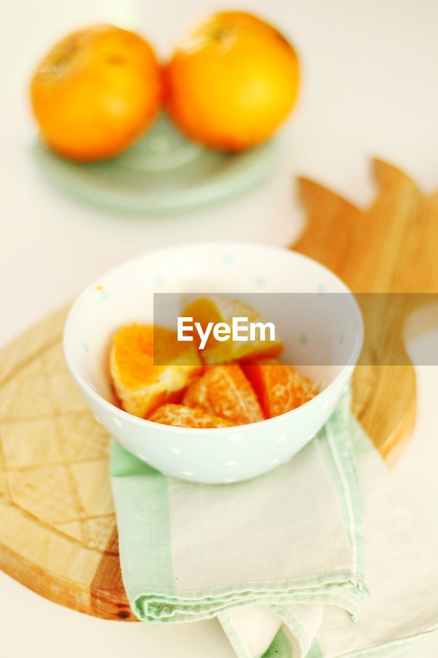 Orange Fruits In Bowl On Table