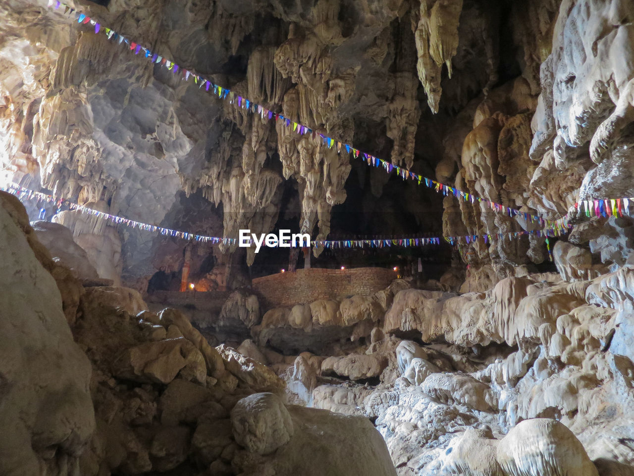 Bunting Hanging In Cave