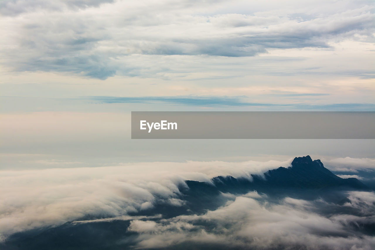 cloud - sky, sky, beauty in nature, scenics - nature, tranquility, tranquil scene, cloudscape, idyllic, nature, no people, outdoors, dramatic sky, day, sunset, fluffy, non-urban scene, aerial view, overcast, softness, meteorology, above