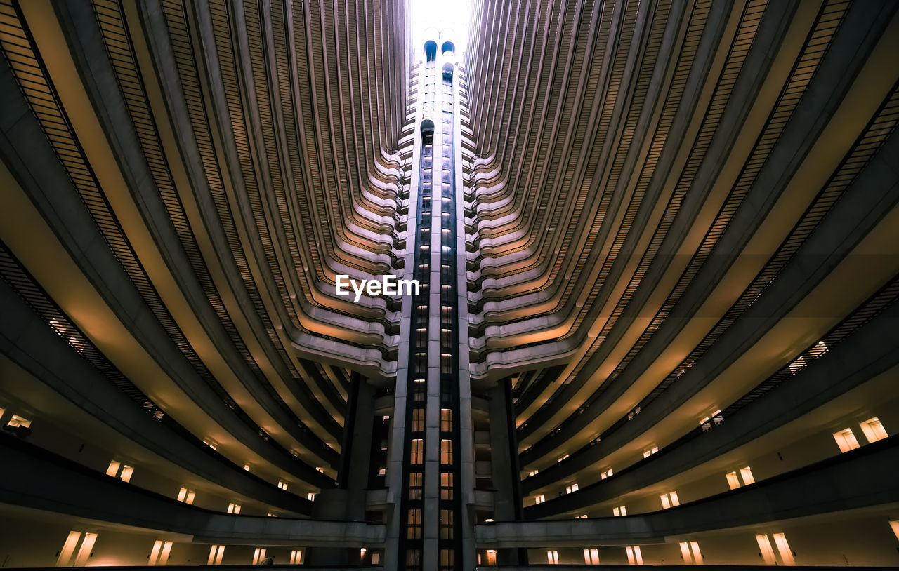 Low Angle View Of Atlanta Marriott Marquis