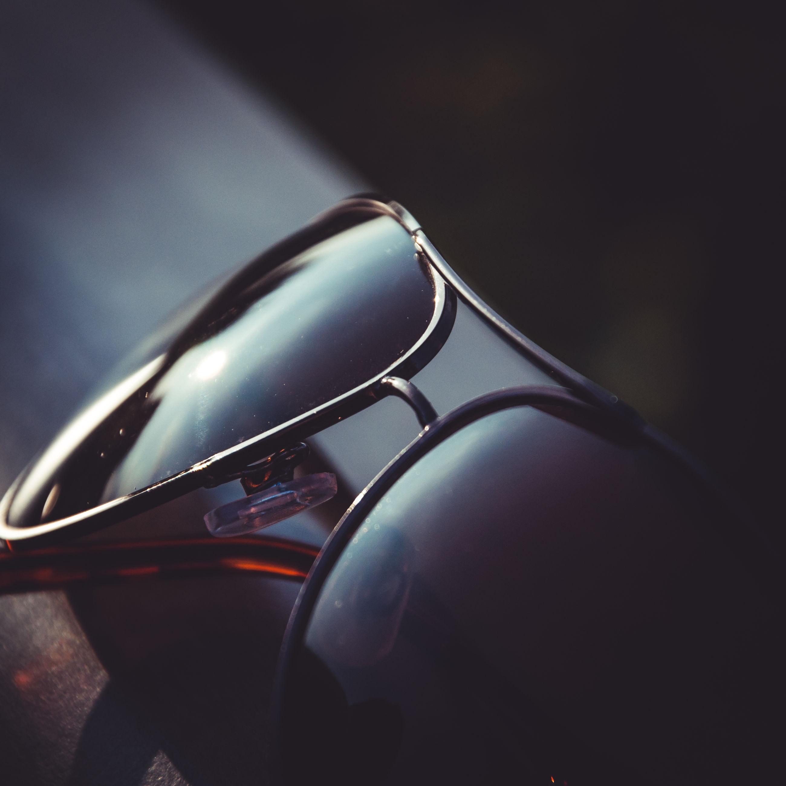 CLOSE-UP OF CAR HEADLIGHT