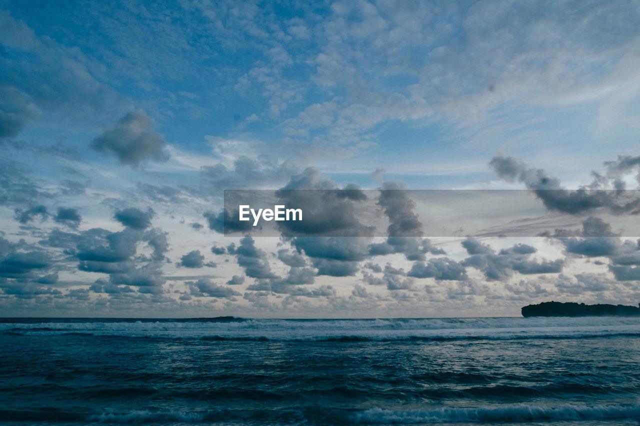 A clear cloud and beach from yogyakarta