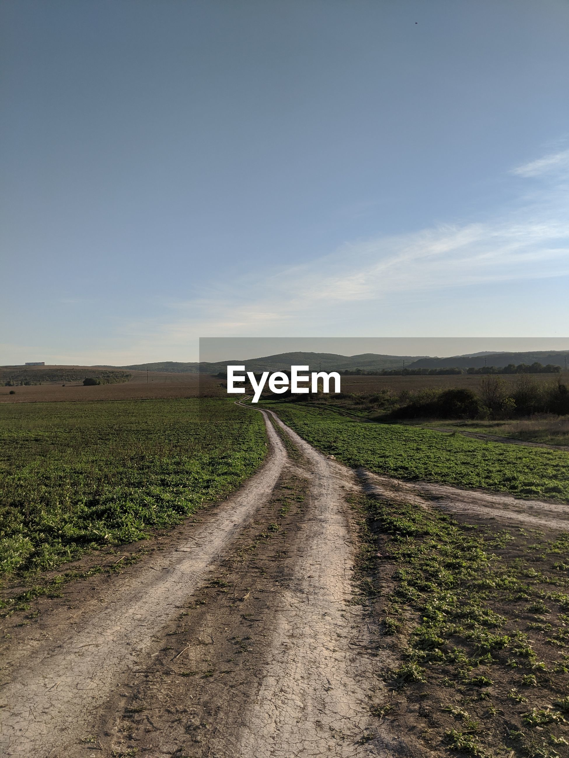 ROAD PASSING THROUGH FIELD