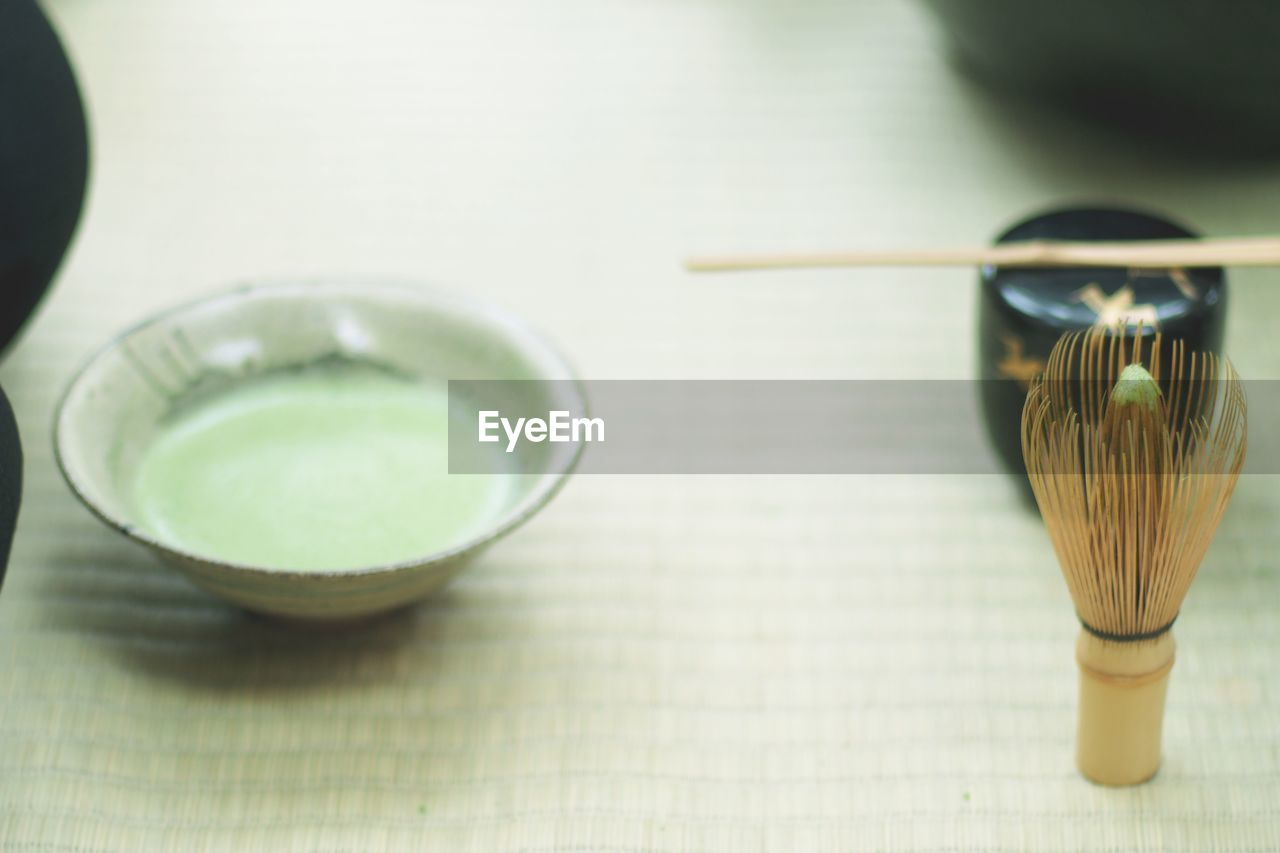 Close-up of green tea