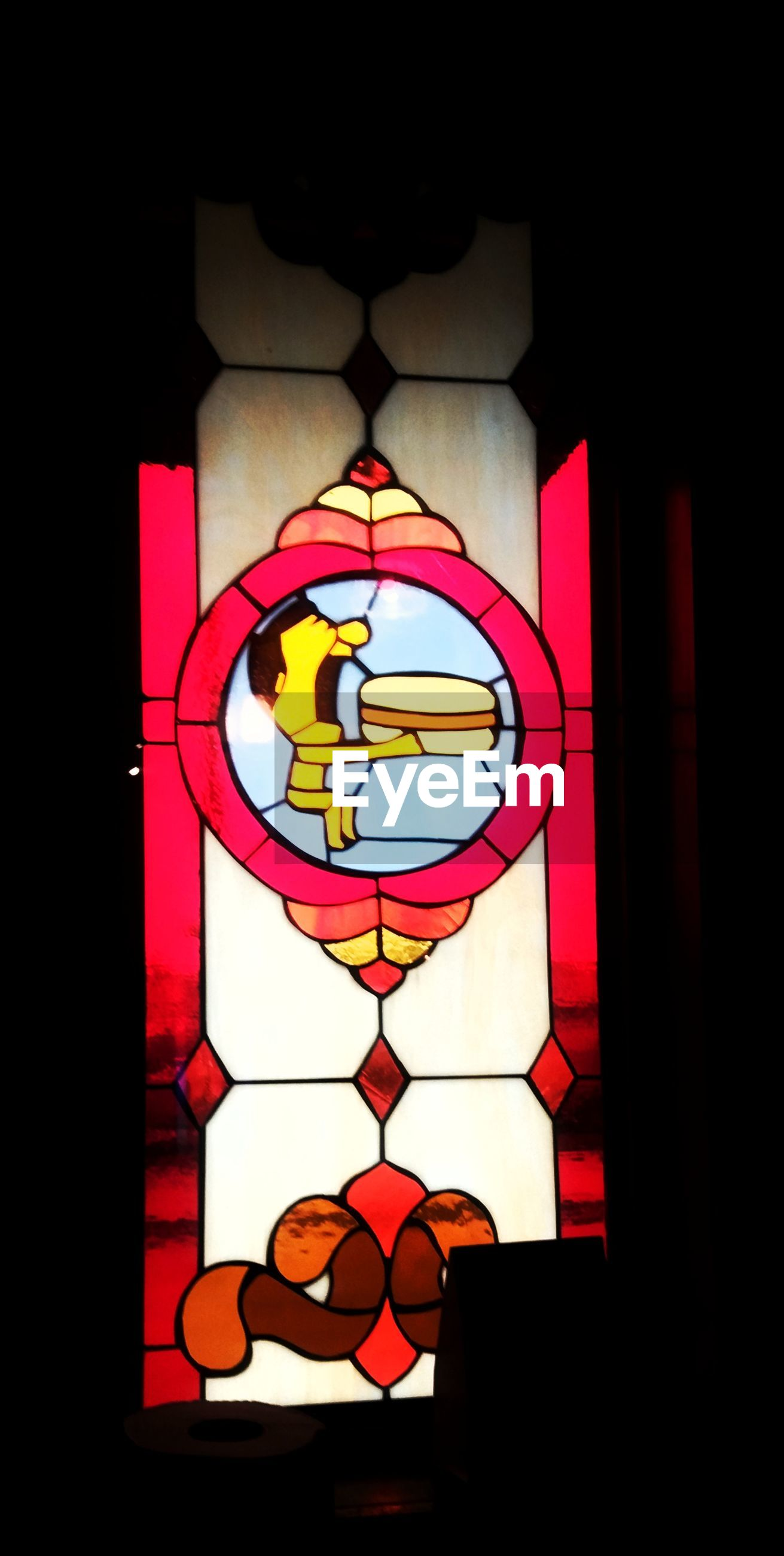indoors, window, no people, multi colored, built structure, pattern, close-up, architecture, illuminated, day