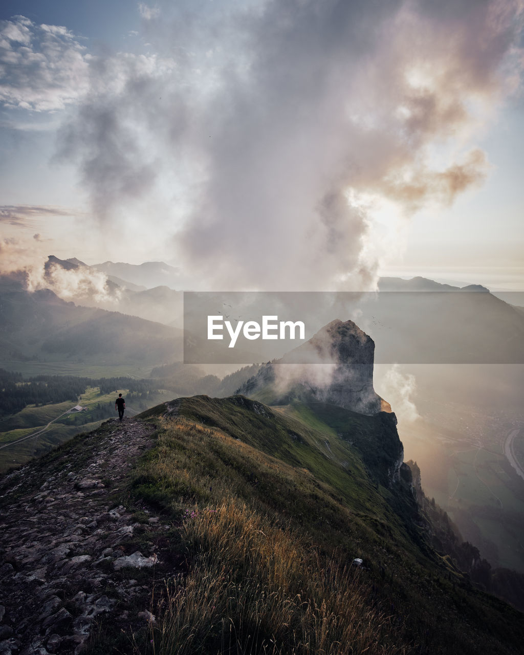 beauty in nature, mountain, scenics - nature, sky, environment, landscape, smoke - physical structure, non-urban scene, tranquil scene, cloud - sky, nature, geology, physical geography, land, tranquility, no people, erupting, outdoors, day, idyllic, power in nature, pollution, volcanic crater