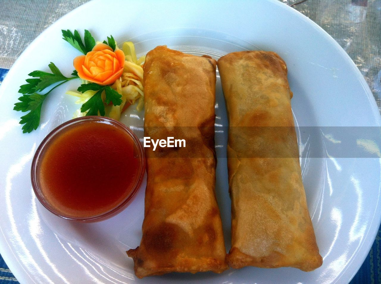 food and drink, plate, ready-to-eat, food, freshness, still life, serving size, table, spring roll, fried, indulgence, no people, temptation, indoors, close-up, stuffed, dumpling, day