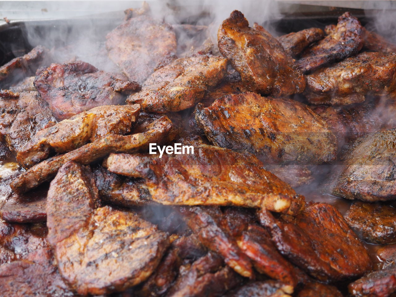 Full Frame Of Barbecued Pork