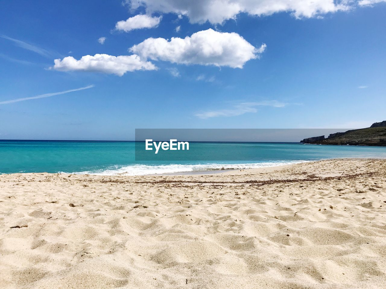 beach, land, sea, sky, water, sand, scenics - nature, beauty in nature, tranquility, cloud - sky, tranquil scene, horizon over water, nature, day, horizon, no people, idyllic, non-urban scene, blue, outdoors, turquoise colored