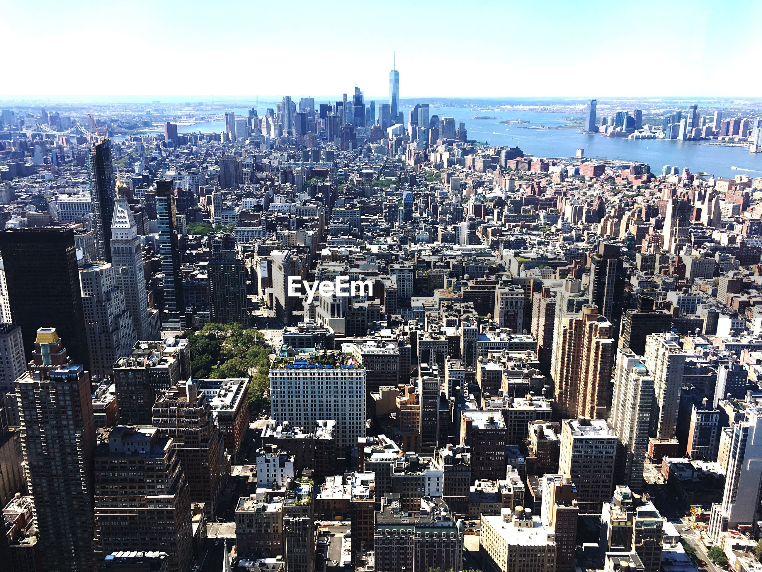 Manhattan by east river seen from empire state building