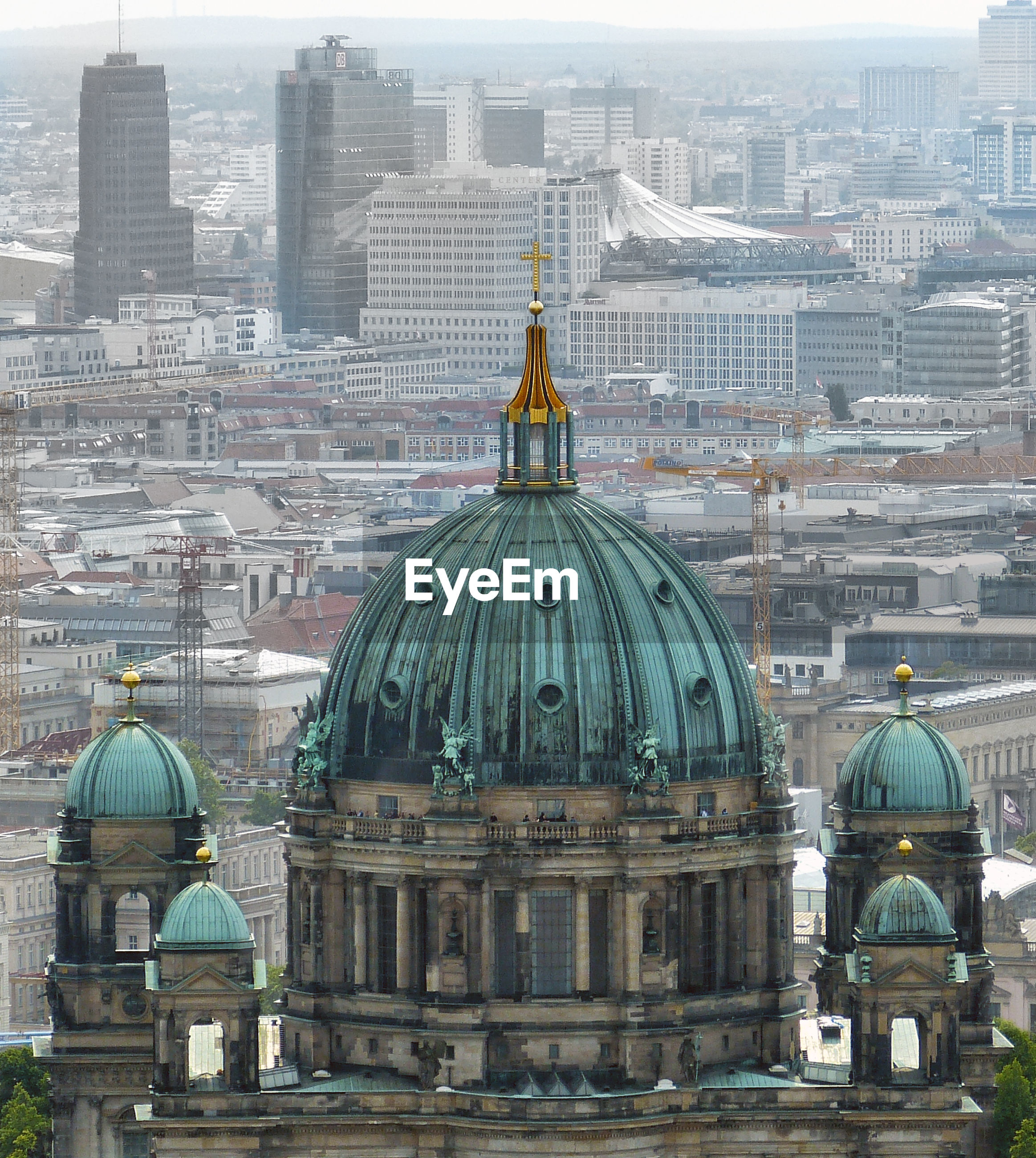 View of dome against city