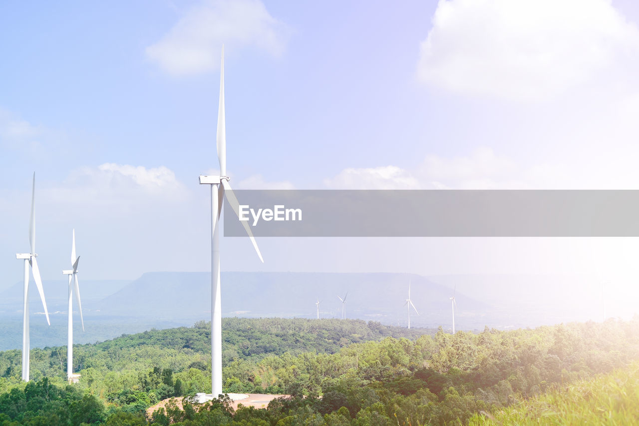 turbine, wind turbine, alternative energy, renewable energy, wind power, environmental conservation, environment, sky, fuel and power generation, cloud - sky, nature, no people, day, plant, landscape, tree, beauty in nature, scenics - nature, technology, land, outdoors, sustainable resources