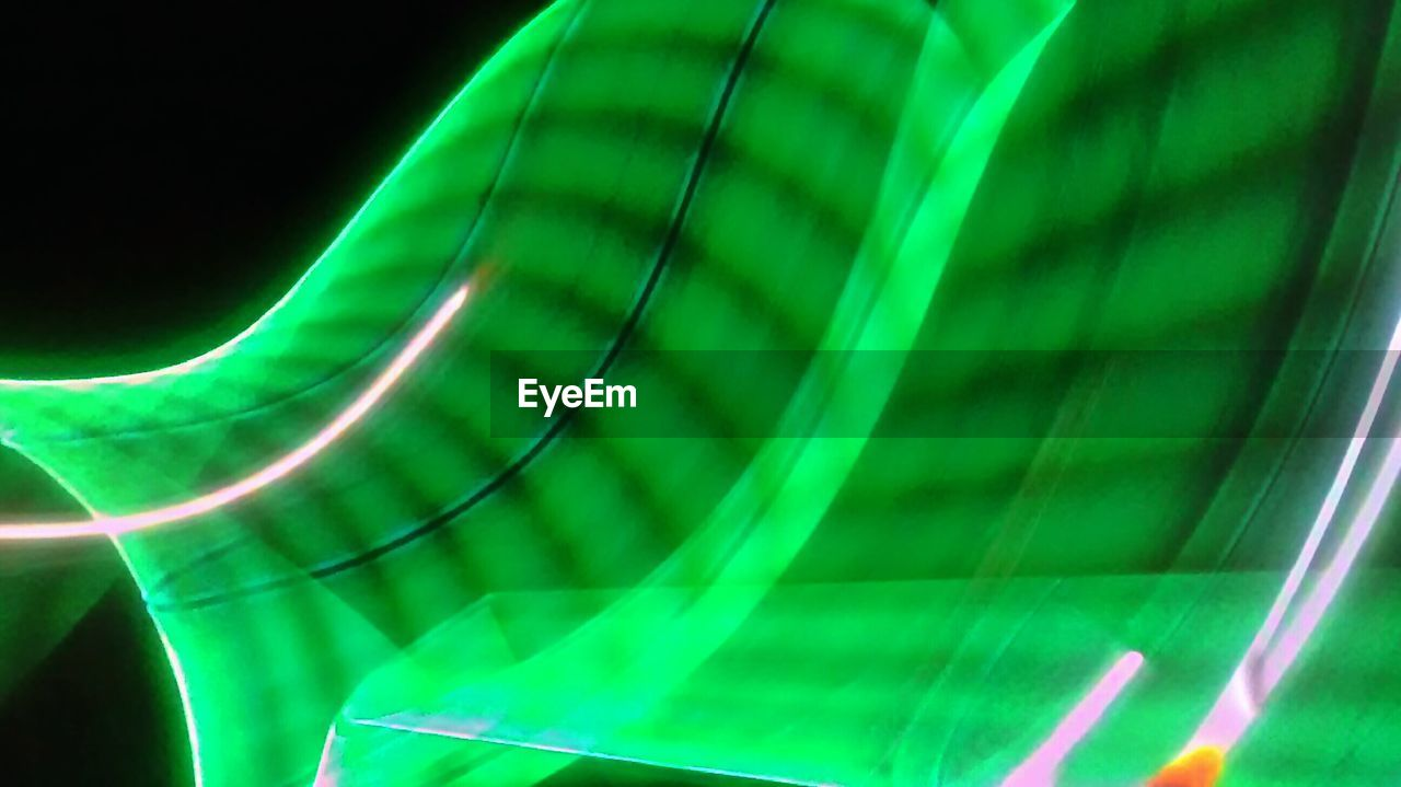 green color, no people, illuminated, outdoors, night, close-up