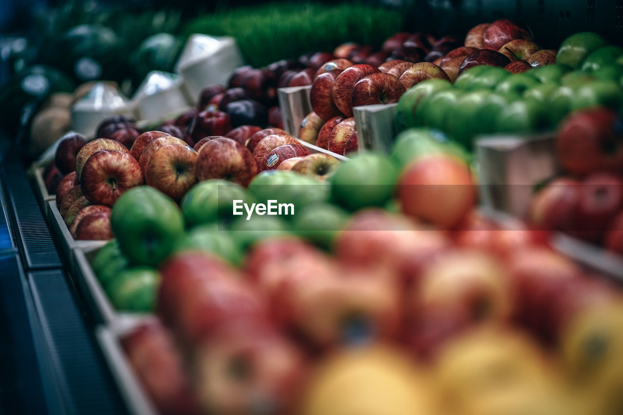 food and drink, food, freshness, selective focus, wellbeing, choice, healthy eating, market, for sale, abundance, retail, fruit, large group of objects, variation, still life, no people, market stall, container, close-up, day, retail display
