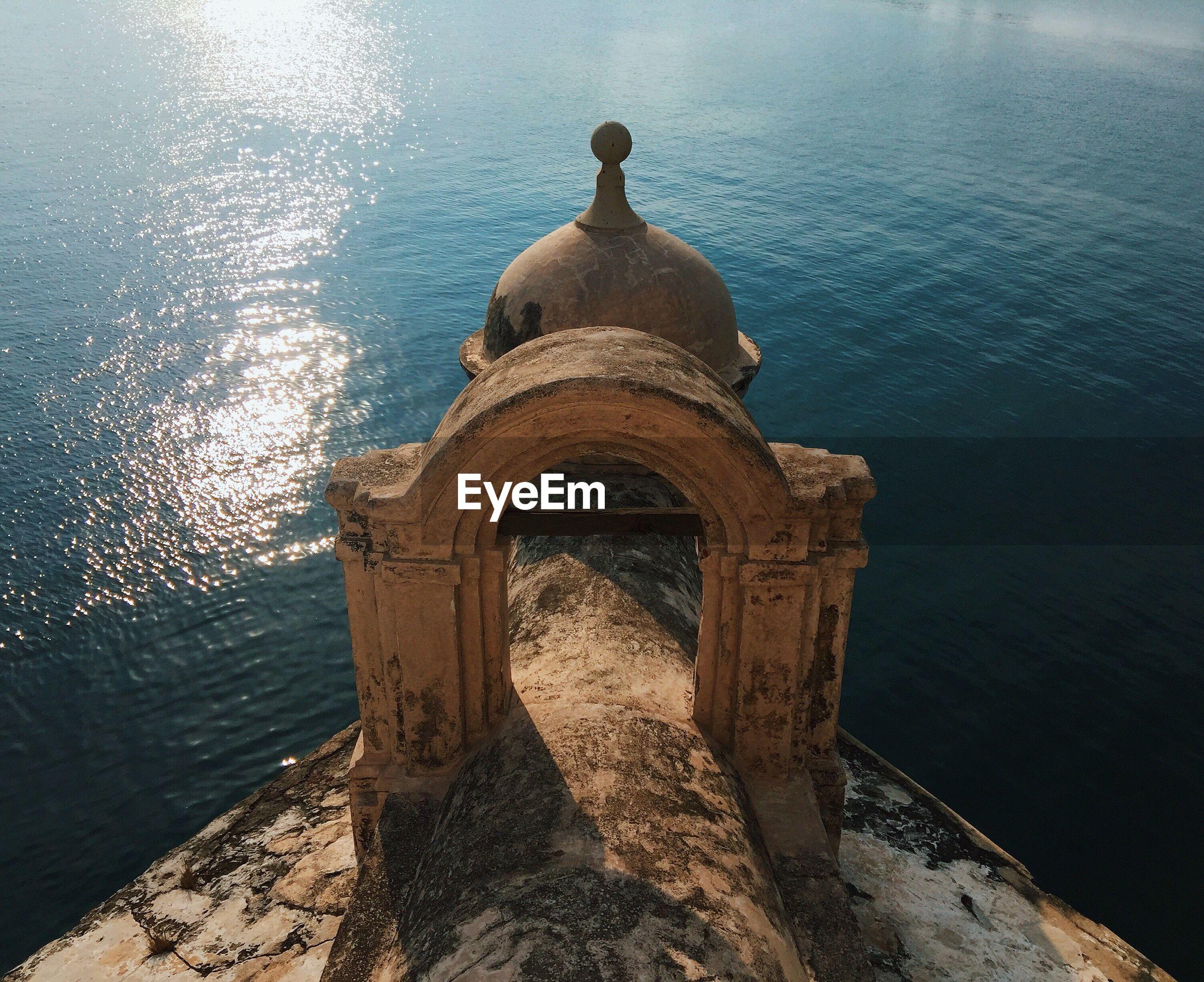 Cropped image of san juan de ulua overlooking sea